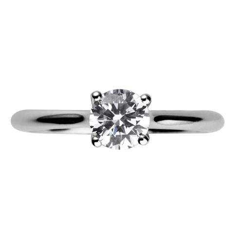 0.50ct Platinum Mounted 4 Claw Diamond Solitaire Ring