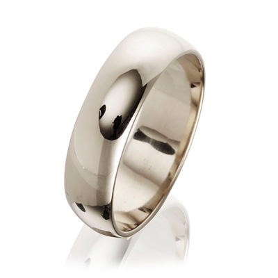 5mm 18ct White Gold Fairtrade Wedding Ring-0