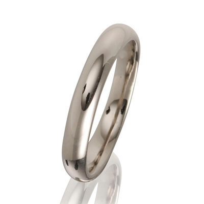 3mm 18ct White Gold Fairtrade Wedding Ring-0