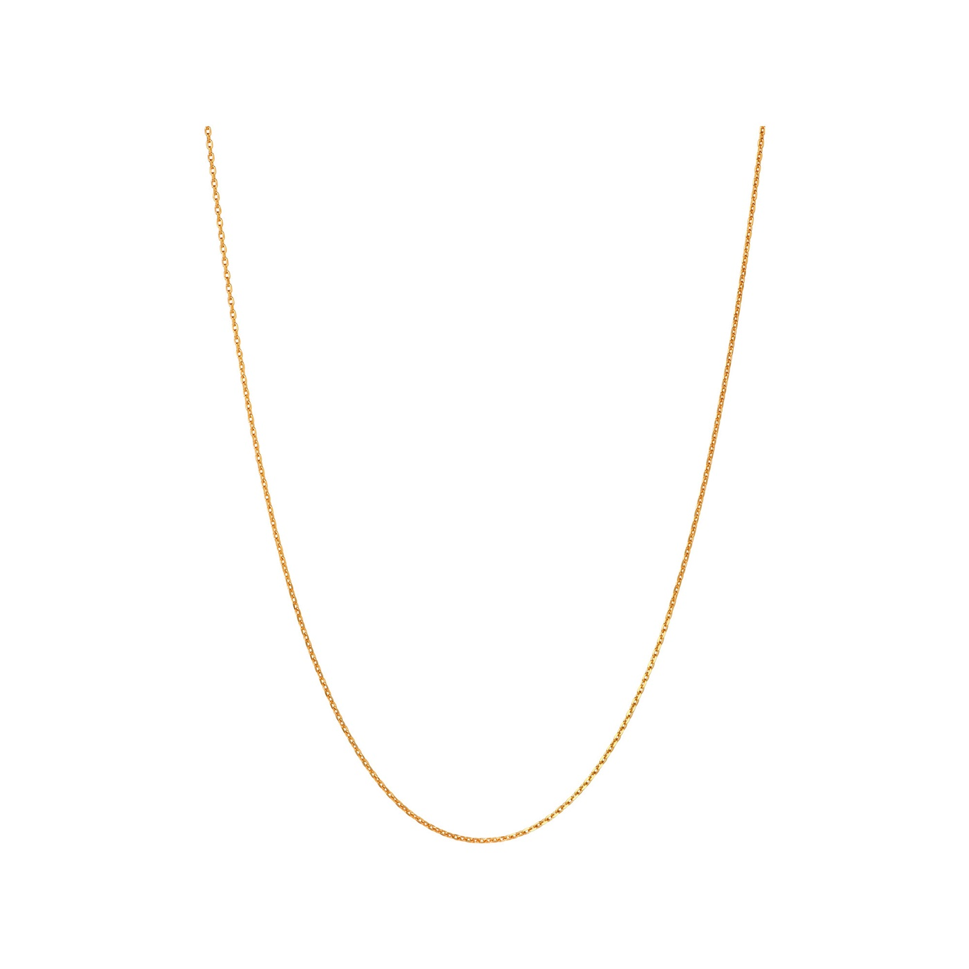 Links of London Essentials 50cm Yellow Gold Vermeil Cable Chain-0