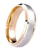 6mm 9ct White Gold and Rose Gold Wedding Ring-0