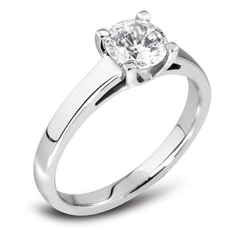 0.50ct Platinum Mounted Diamond Solitaire Ring