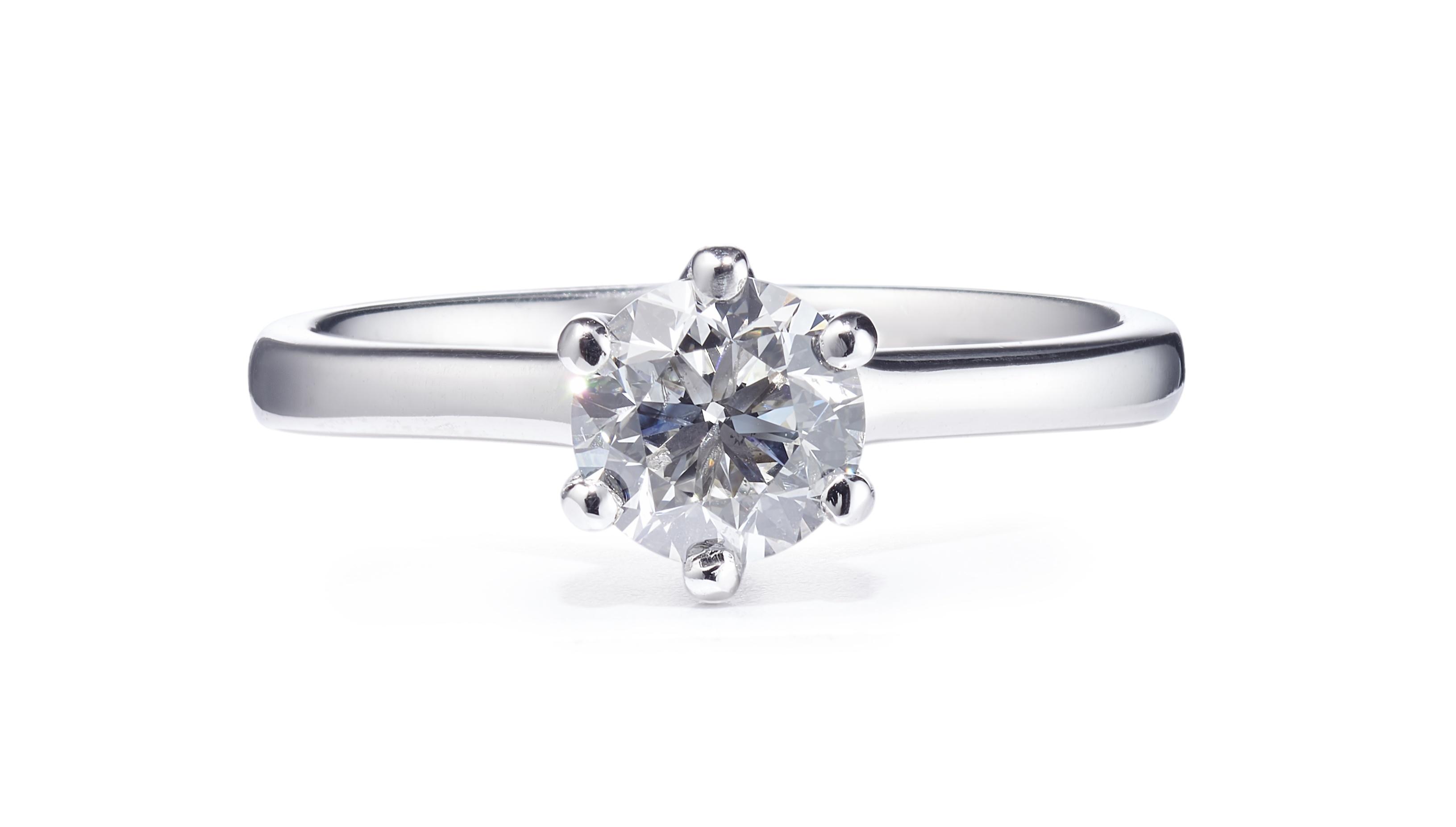 0.90ct Brilliant Cut Diamond Solitaire Ring