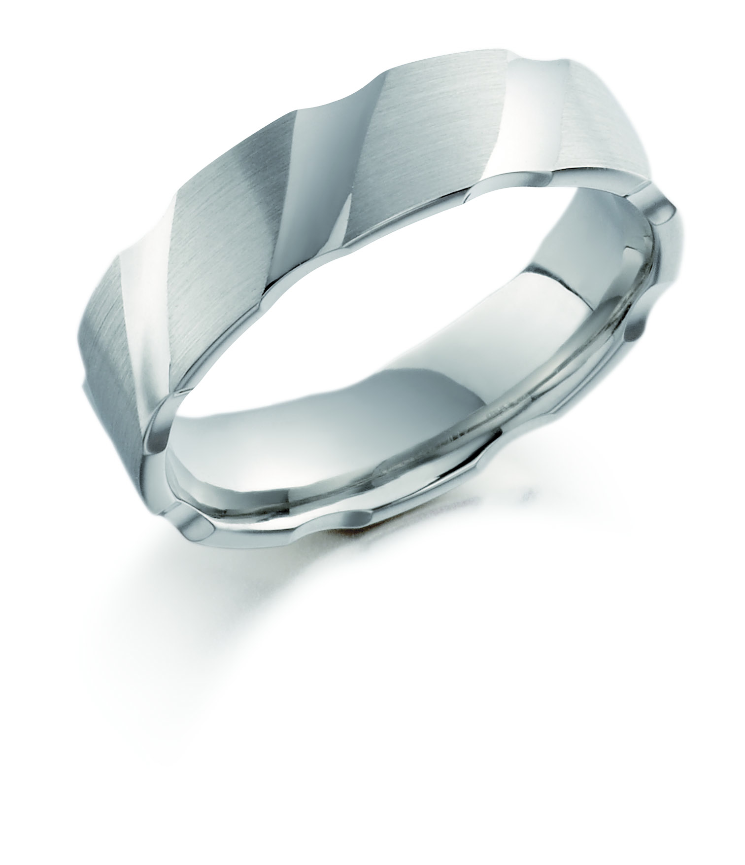 6mm Palladium Matte and Polished Wedding Ring-0