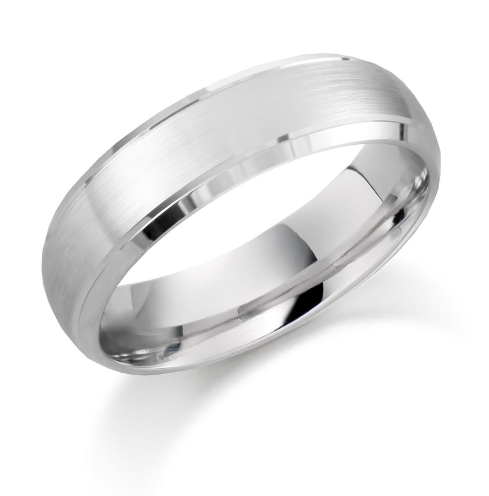 6mm Palladium Matte Wedding Ring-0