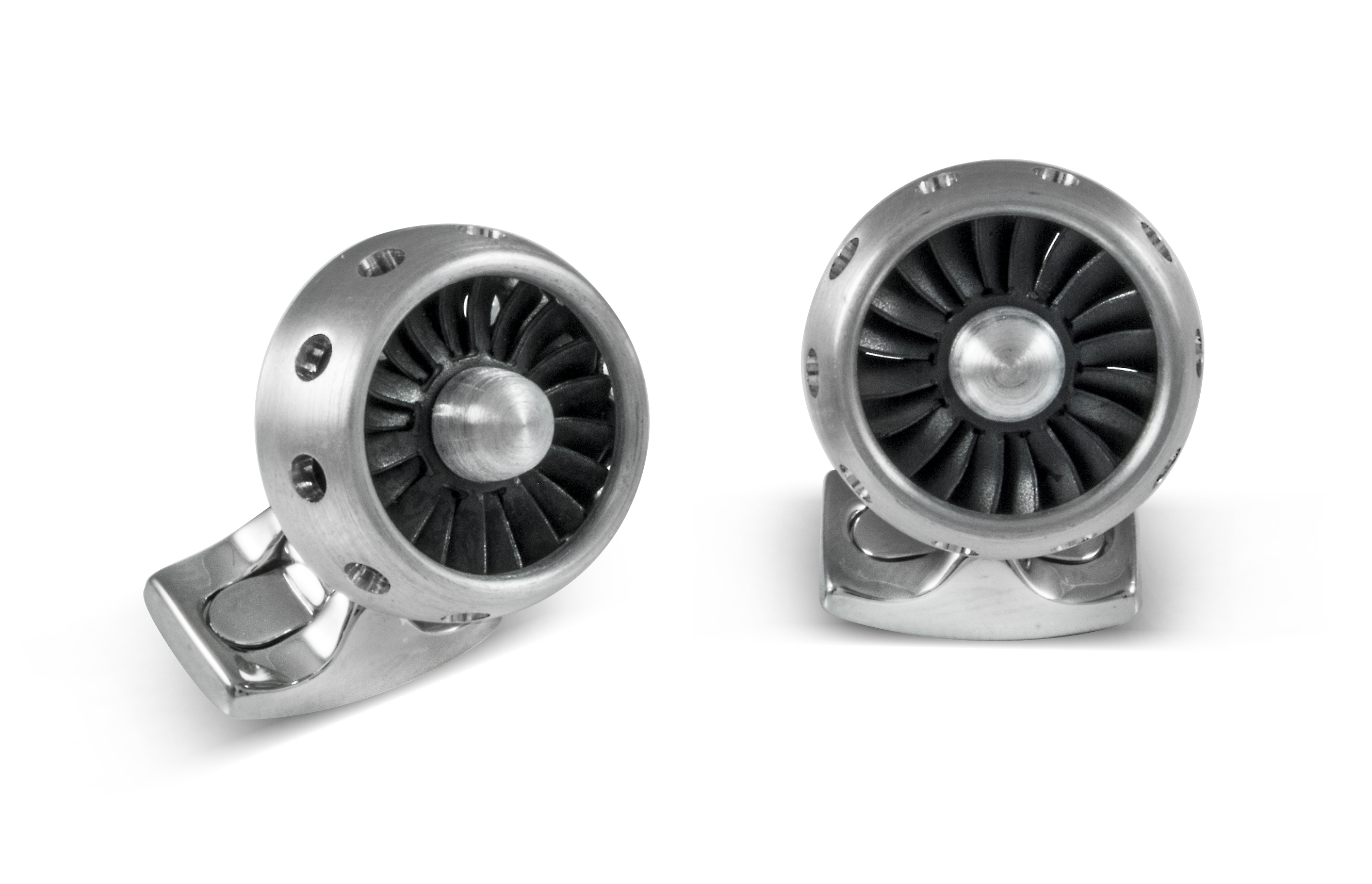 Jet Turbine Engine Cufflinks made From Aircraft Grade Aluminium-0