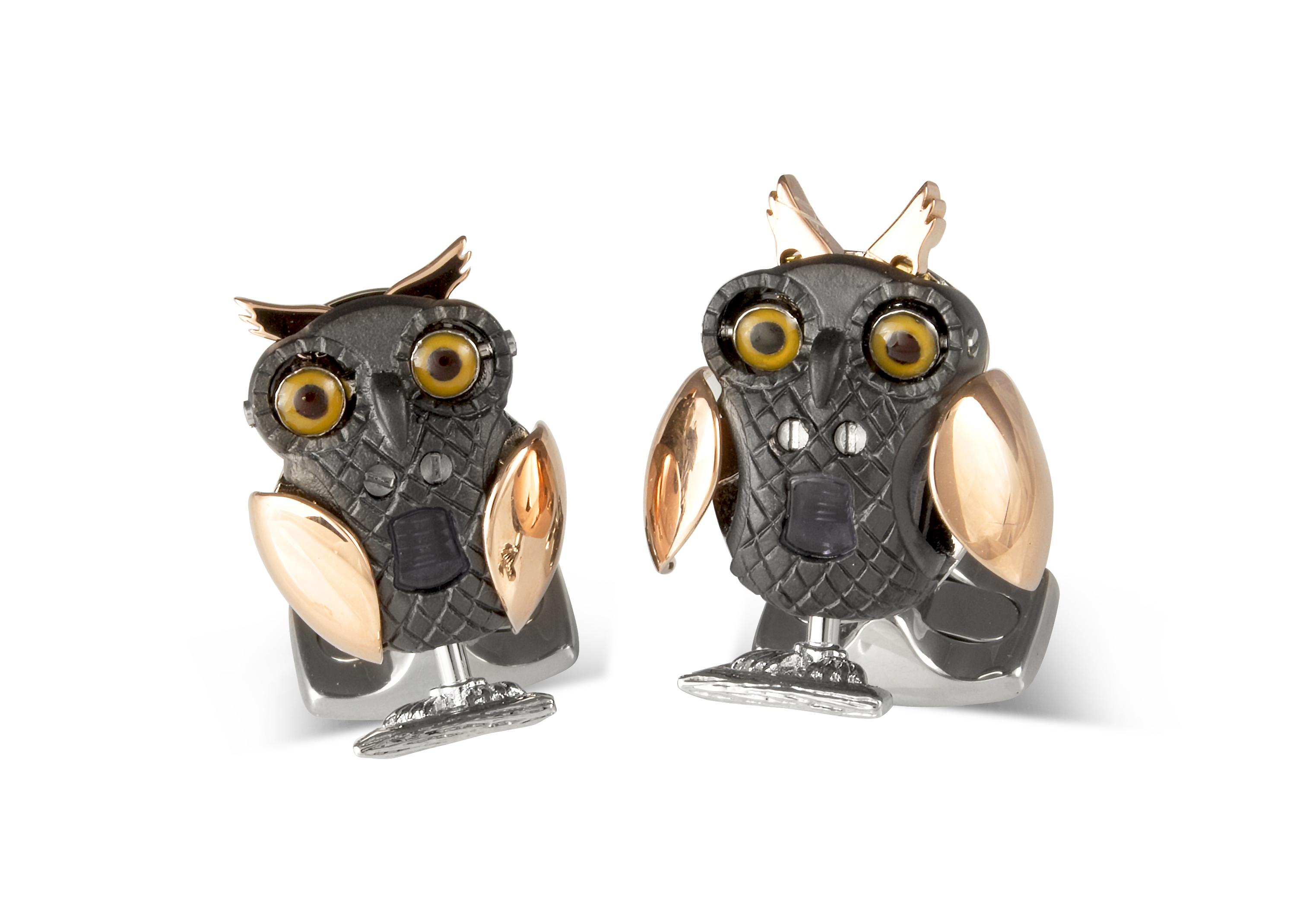 Moving Owl Cufflinks-0