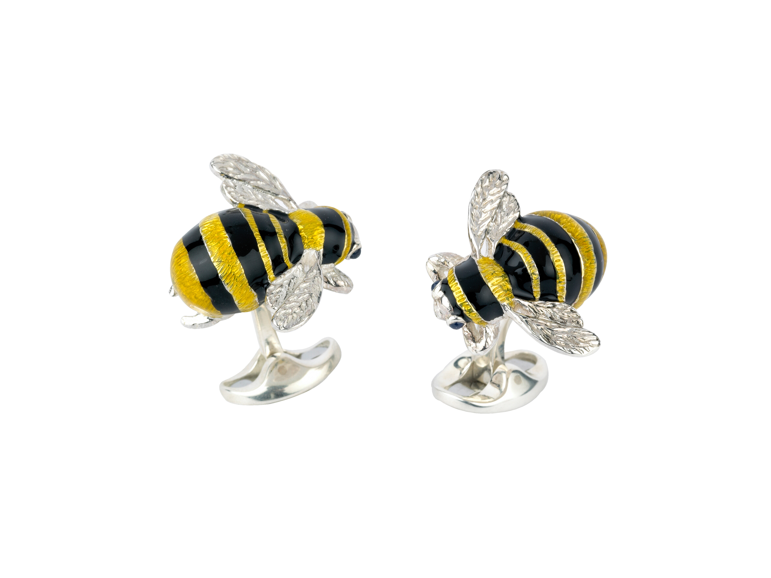 Sterling Silver and Bumble Bee Cufflinks-0
