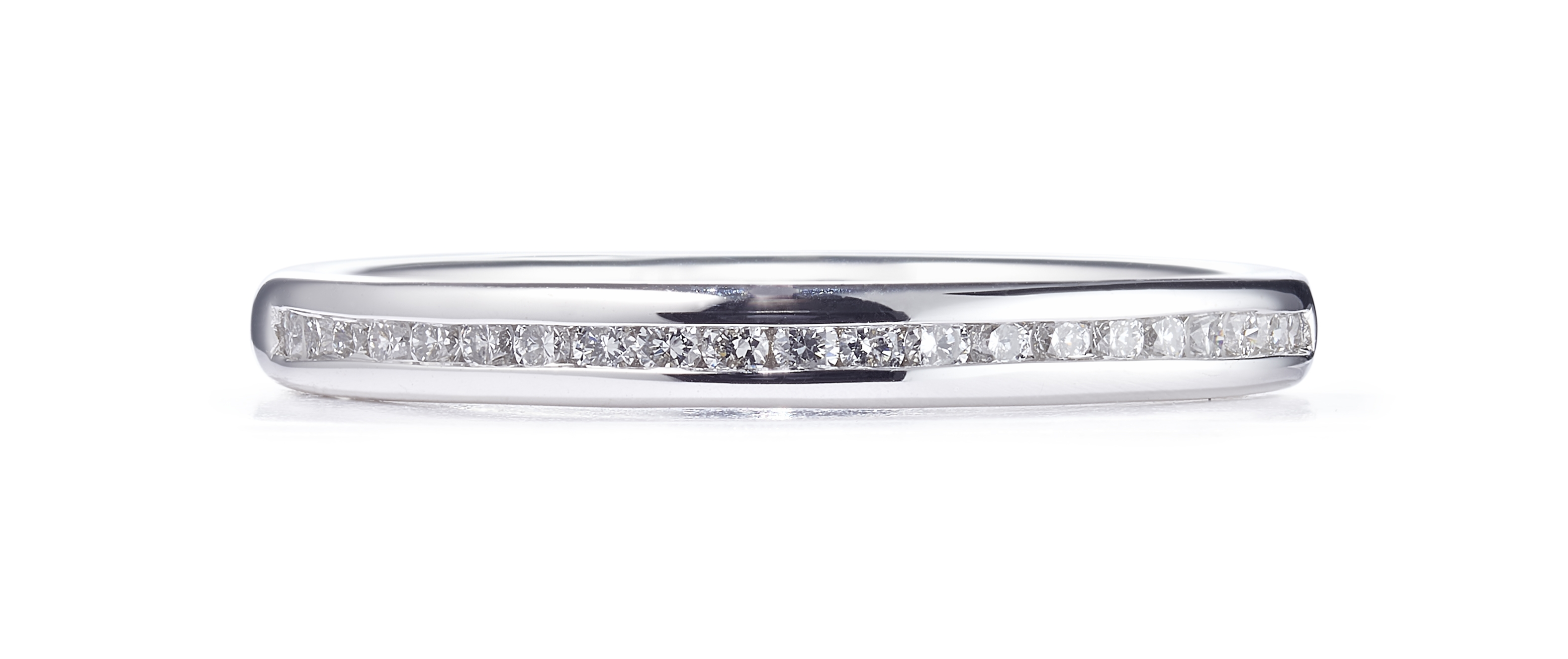 0.25ct Brilliant Cut Diamond 18ct 50% White Gold Set Ring