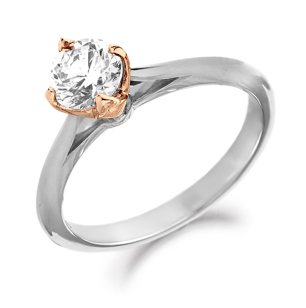 0.51ct Brilliant Cut Diamond in a Rose Gold Setting-0