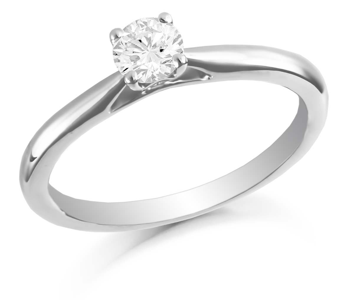 0.20ct 18ct White Gold Brilliant Cut Diamond Solitaire Ring-0