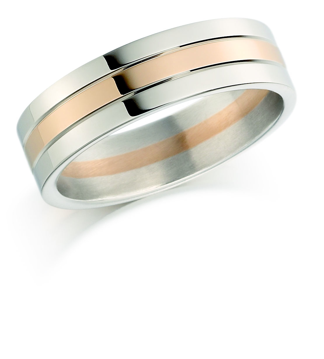 18ct 6mm Two Colour Wedding Ring-0