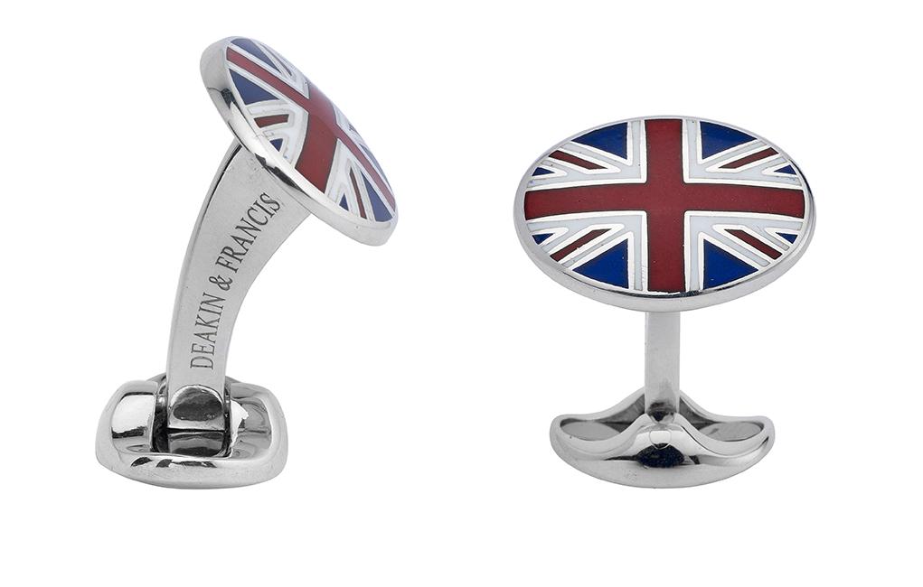 Sterling Silver Union Jack Cufflinks-0