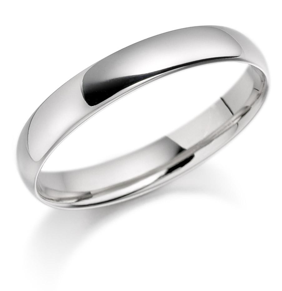 4mm Platinum Wedding Ring-0
