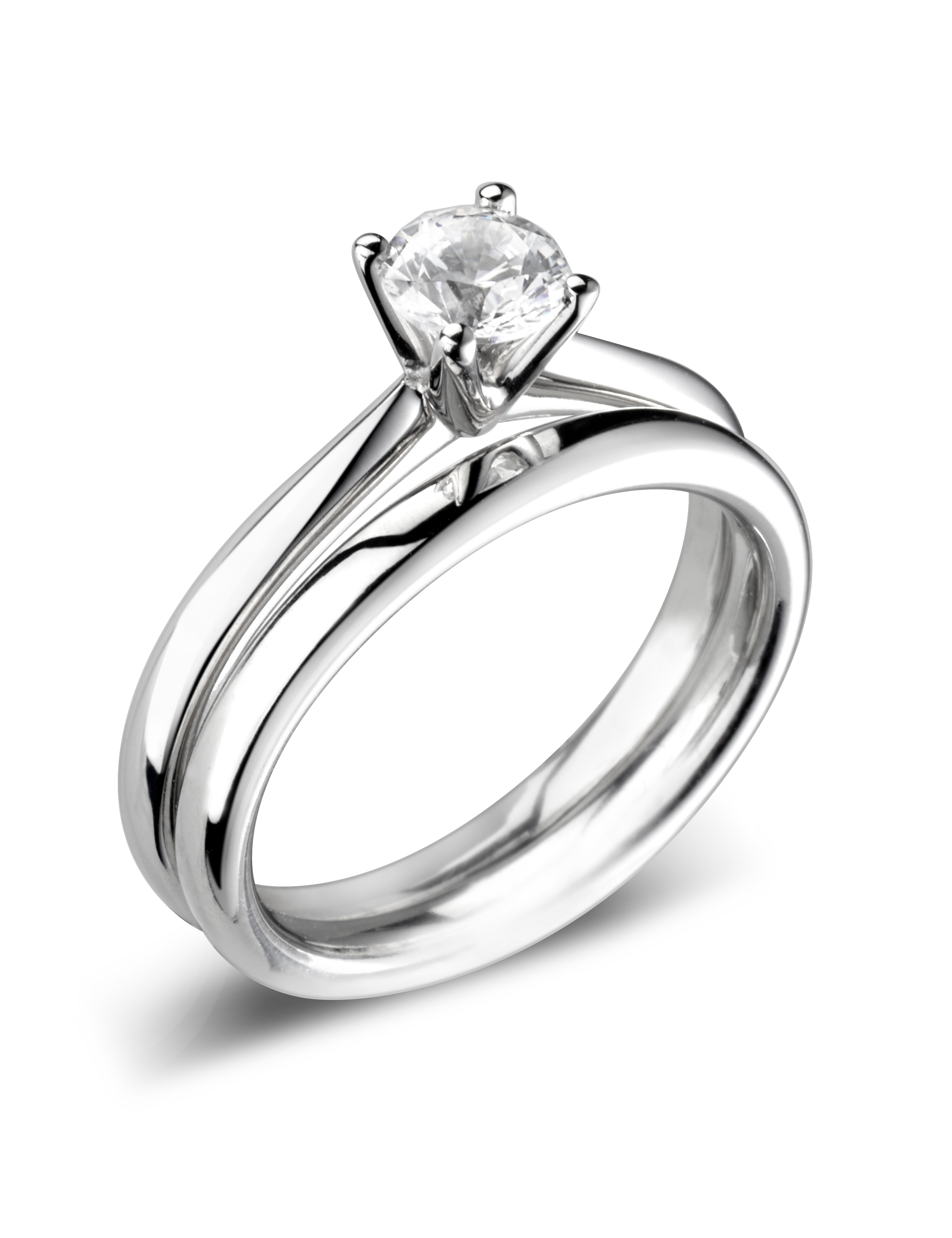 "18ct White Gold ""D"" Colour Brilliant Diamond Solitaire Ring"