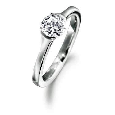 0.41ct Platinum Mounted Diamond Solitaire Ring