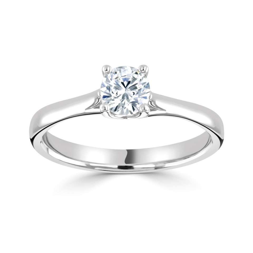 0.30ct Platinum Mounted Diamond Solitaire Ring