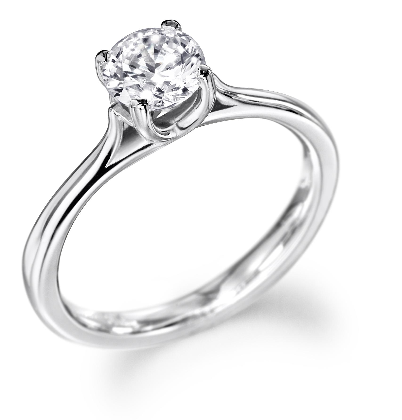 0.30ct Platinum Mounted Diamond Solitaire Ring-0