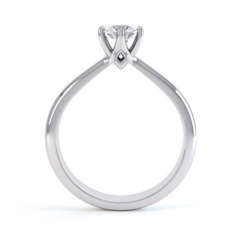 0.40ct 18ct White Gold Six Claw Brilliant Cut Diamond Ring