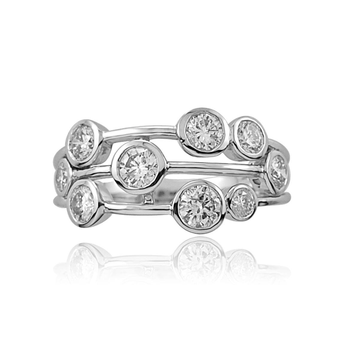 18ct White Gold Scatter Design Dress Ring