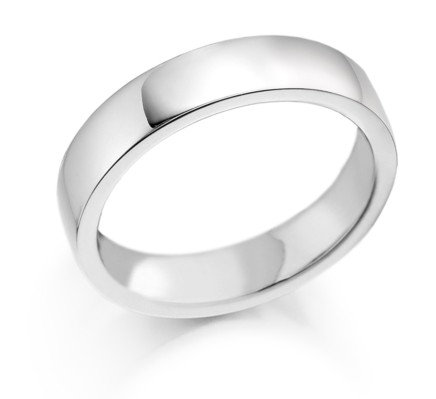 5mm Palladium 500 Wedding Ring-0