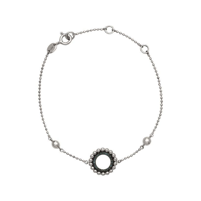 Links of London Effervescence Sterling Silver and Blue Diamond Bracelet-0