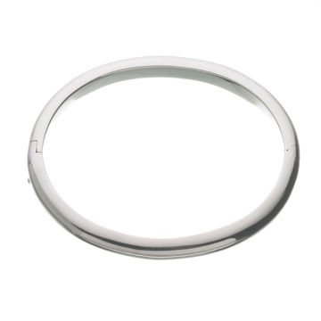 Links of London Classic Silver Oval Bangle-0