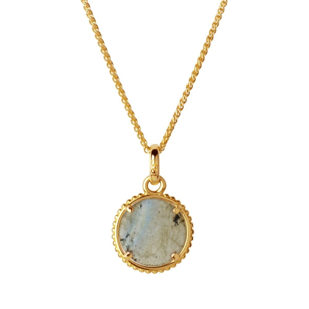 Links of London Amulet Gold Vermeil & Labradorite Pendant Necklace-0
