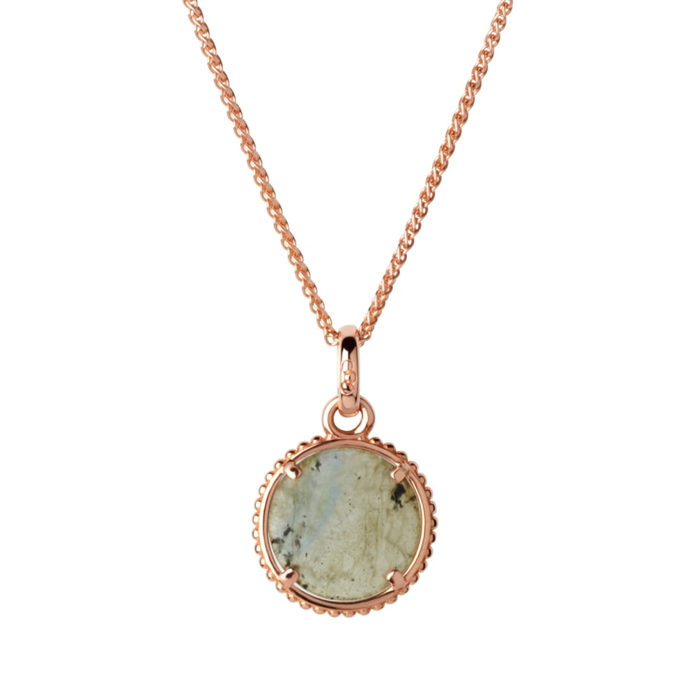 Links of London Amulet Rose Gold Vermeil & Labradorite Pendant Necklace-0