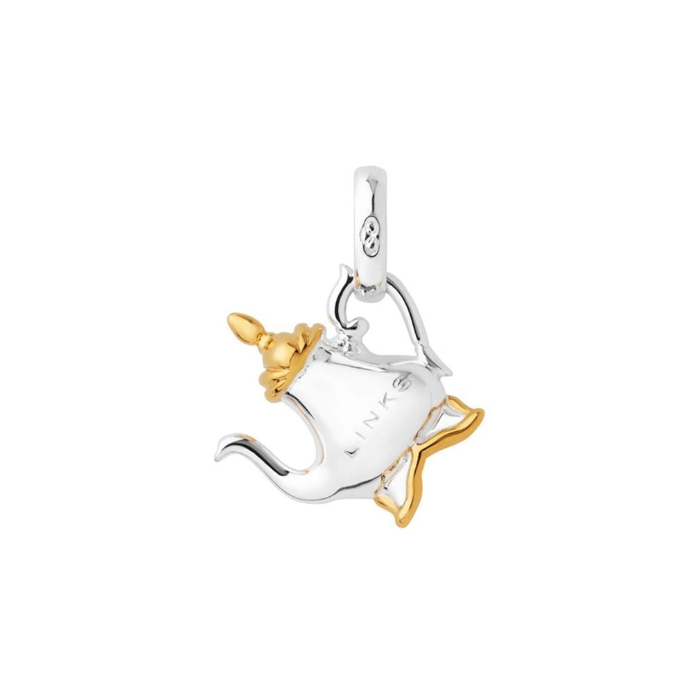 Links of London Silver & 18ct Gold Vermeil Tea Pot Charm -0