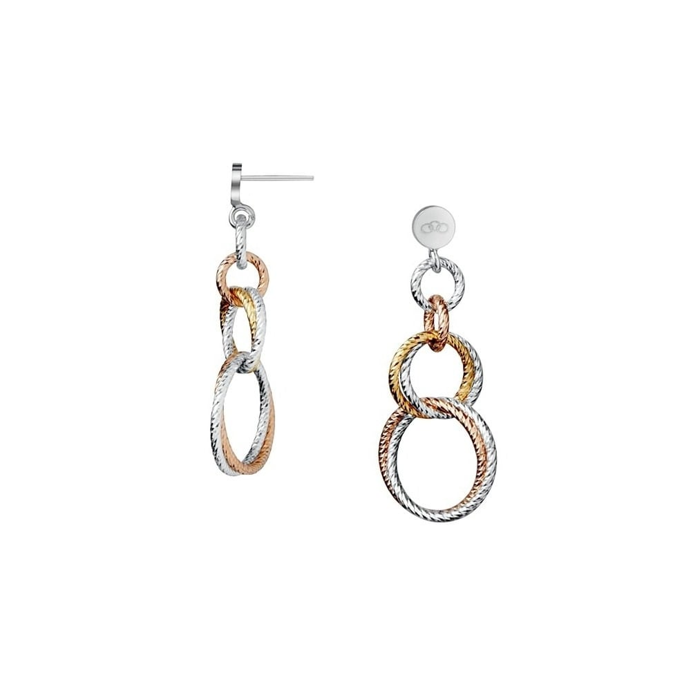 Links of London Aurora Double Link Earrings-0
