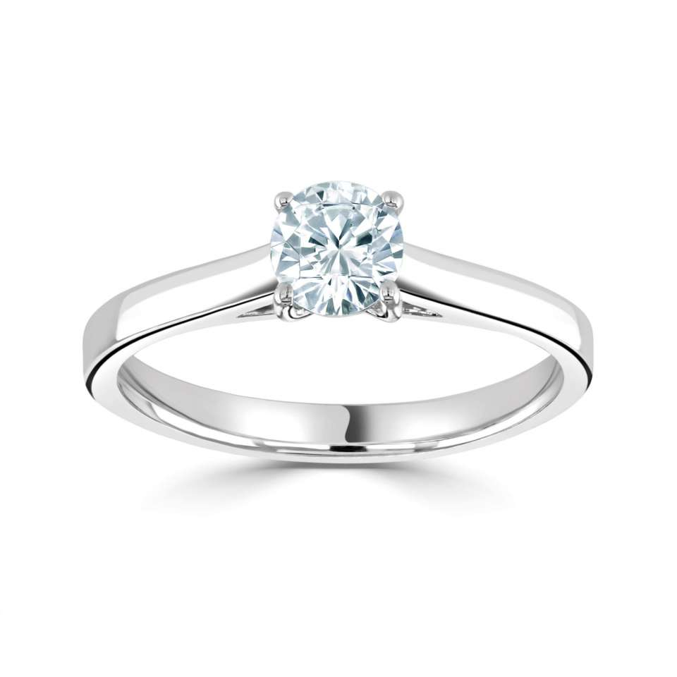 0.27ct, H,VS1 GIA Certificated Diamond Ring