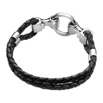 Links of London 20/20 Black Leather Bracelet -0
