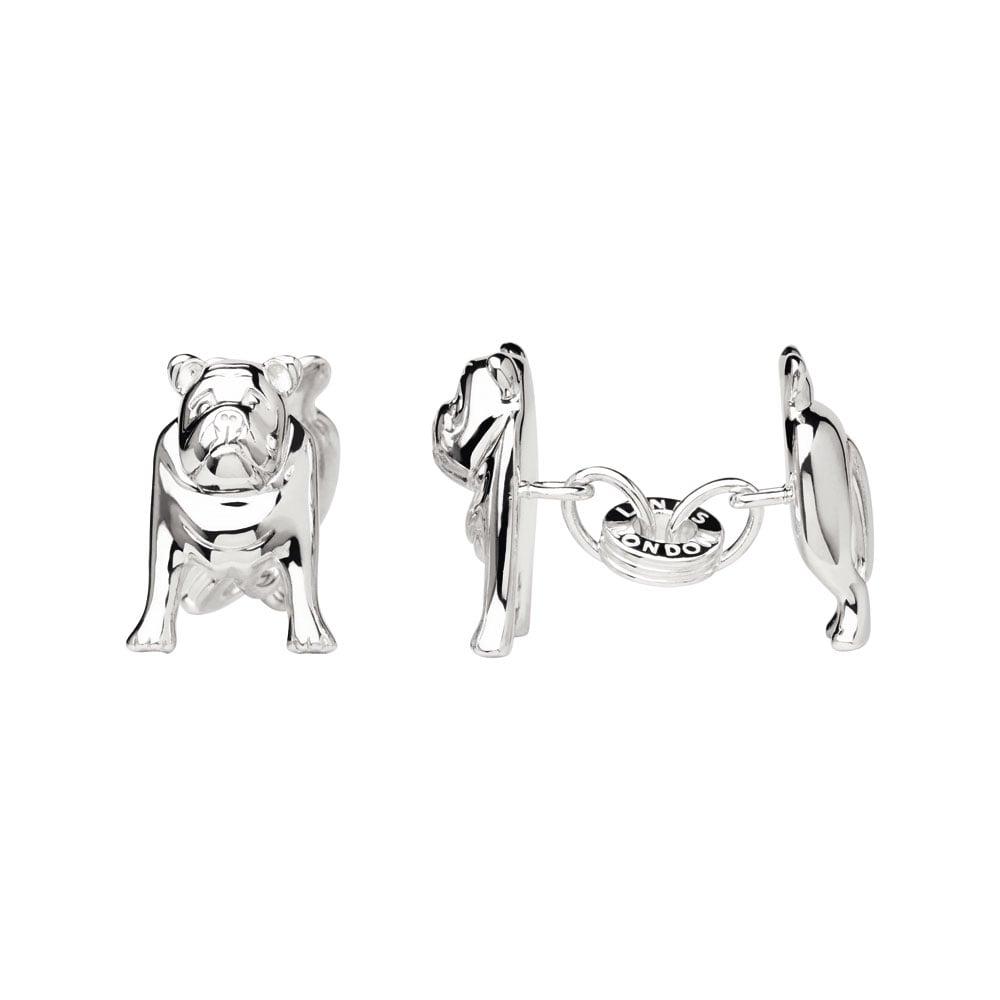 Links of London Men's Silver Bulldog Cufflinks-0