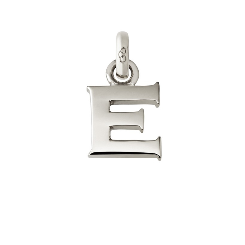 Links of London Sterling Silver Letter E Charm-0