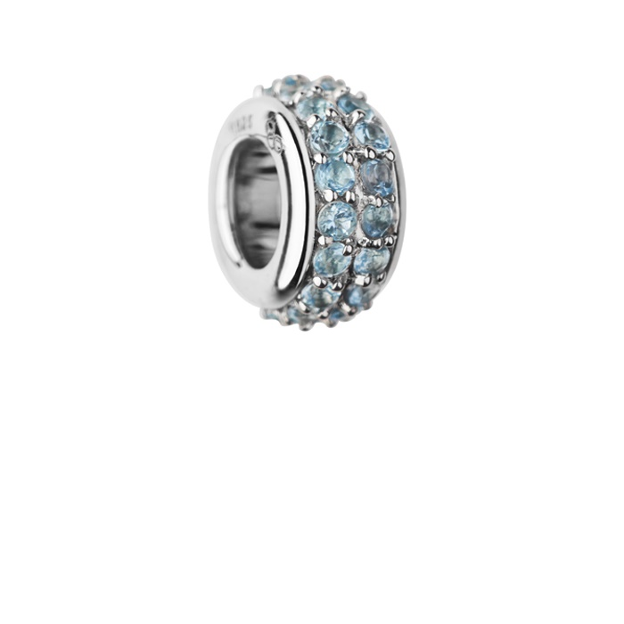 Links of London Sweetie Sterling Silver & Blue Topaz Pave Bead-0