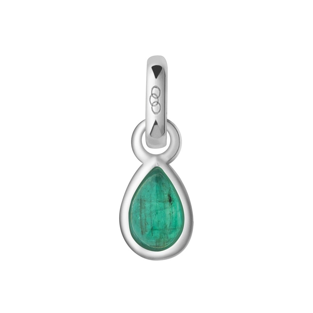 Links of London Emerald & Sterling Silver May Birthstone Charm-0