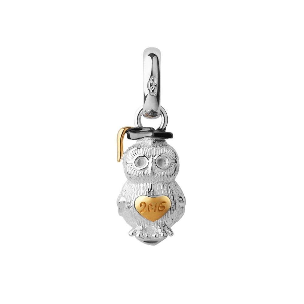 Links of London Silver & Gold Vermeil 2016 Graduation Owl Charm-0