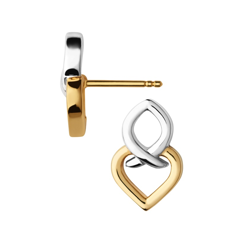 Links of London Infinite Love Sterling Silver & 18kt Yellow Gold Vermeil Earrings-0