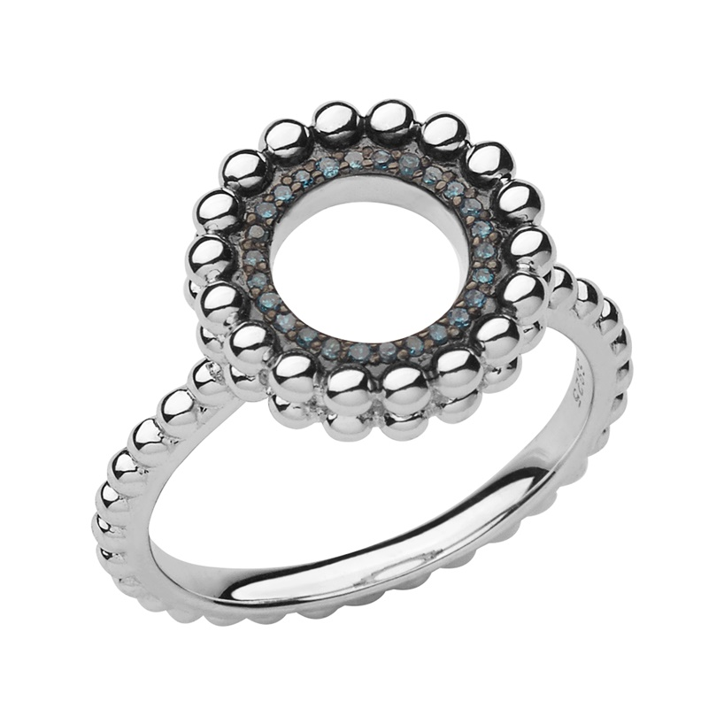 Links of London Effervescence Sterling Silver & Blue Diamond Ring-0