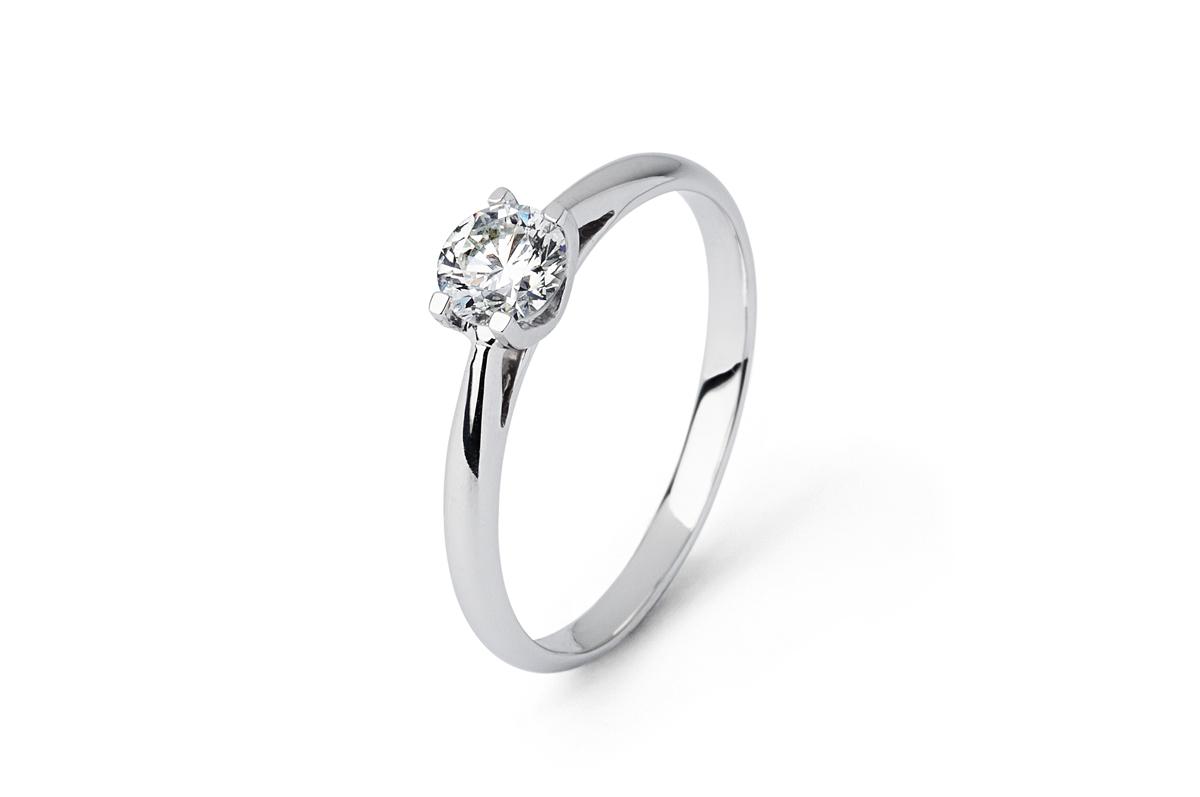 0.53ct Brilliant Cut Diamond Solitaire Ring-0