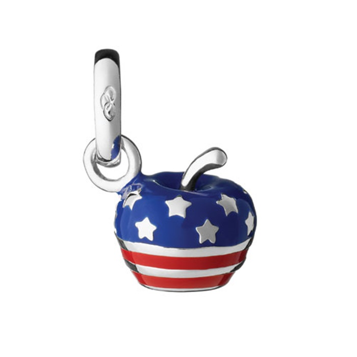 Links of London Stars and Stripes Apple Charm-0