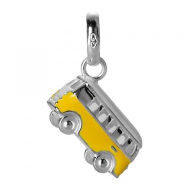 Links of London Silver Yellow Enamel Camper Van Charm-0