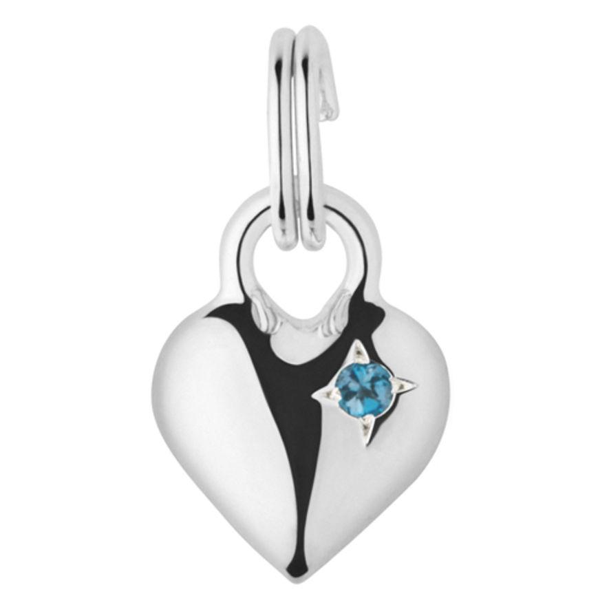 Links of London Mini Heart Blue Topaz Charm-0