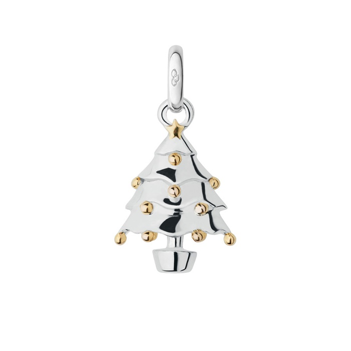 Links of London Silver & 18ct Yellow Gold Vermeil Christmas Tree Charm -0