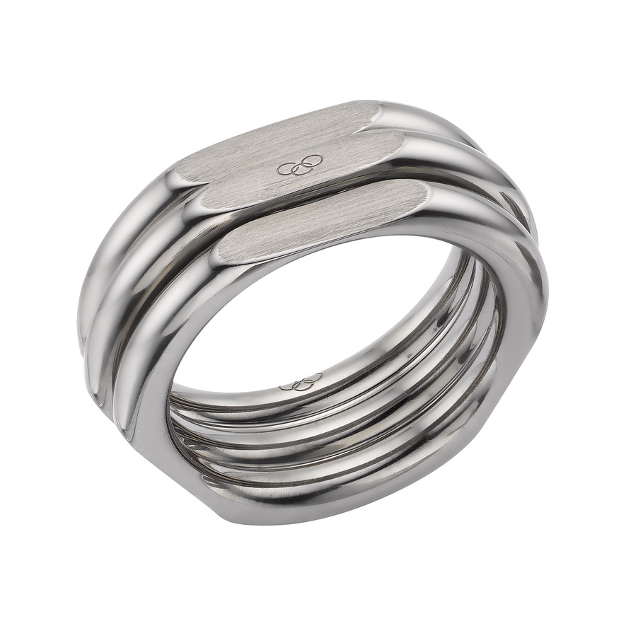 Links of London 20/20 Ruthenium  Plated XL Ring-0