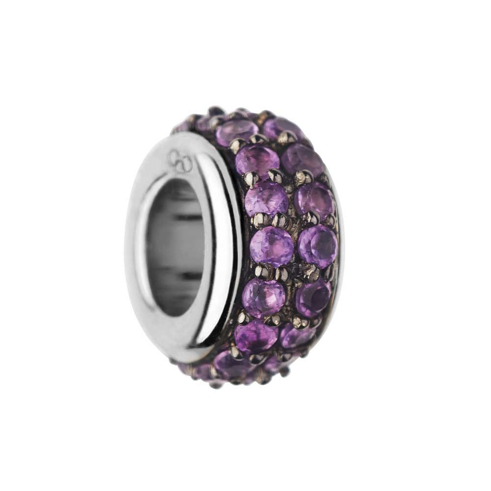 Links of London Sweetie Sterling Silver & Amethyst Pave Bead-0