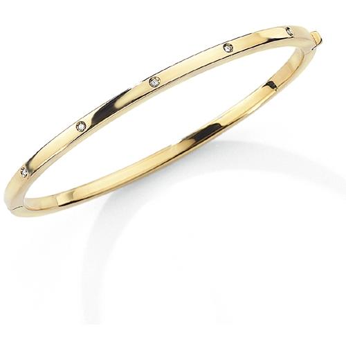 9ct Yellow Gold and Diamond Bangle-0