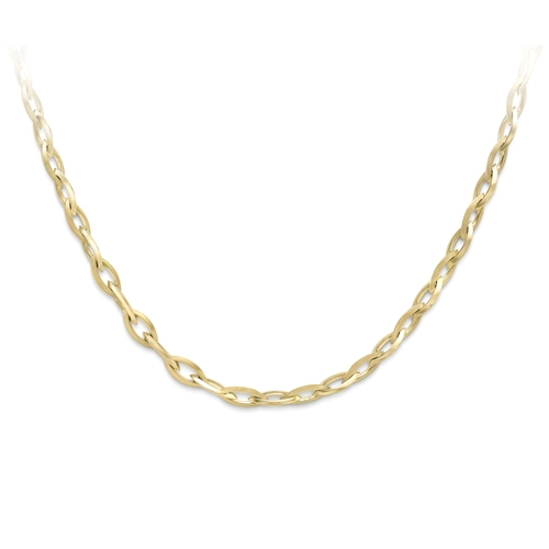 9ct Yellow Gold Oval Link Necklace-0