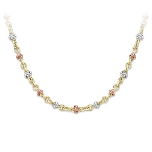 9ct 3 Colour Gold Fancy Necklace-0